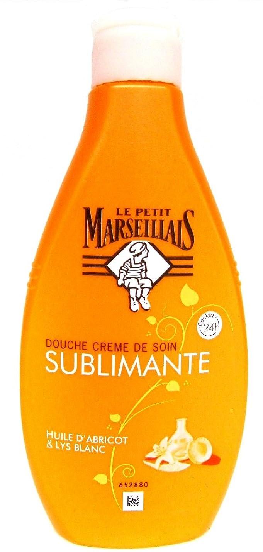 よろめく花束返済「アプリコットオイル」と「ホワイトリリー」シャワージェル フランスの「ル?プティ?マルセイユ(Le Petit Marseillais)」 250 ml ボディソープ