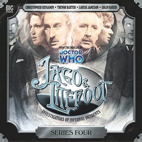 Jago & Litefoot Series 4                   De :                                                                                                                                 Nigel Fairs,                                                                                        John Dorney,                                                                                        Matthew Sweet,                   and others                          Lu par :                                                                                                                                 Christopher Benjamin,                                                                                        Trevor Baxter,                                                                                        Lisa Bowerman,                   and others                 Durée : 5 h et 28 min     Pas de notations     Global 0,0