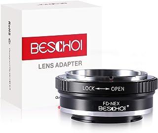 Beschoi - FD-NEX Anillo de Adaptador de Montaje de Lente para Canon FB FL Lente para Sony Alpha NEX E-Mount NEX-7 NEX-6 NEX-5N NEX-5 NEX-C3 NEX-3 FD-NEX