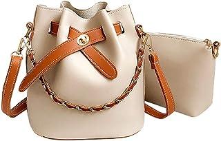 Ears Kleine Tasche Frauen Leder einfarbig Umhängetasche Schultertasche Bucket Bag + Clutch Bag Messenger-Bags Diagonale Ta...