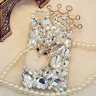 iPhone 7 Plus/8 Plus Crystal Diamond Case,iPhone 7 Plus/8 Plus Rhinestone Case,Luxury Fox Head Crown Crystal Rhinestone Diamond Bling Clear Hard Back Phone Case Cover (for iPhone 7 Plus/8 Plus)