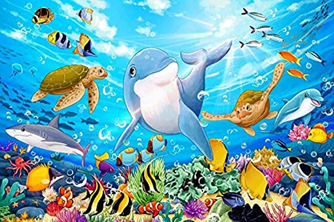 100 Piece Puzzles for Adults Puzzles for Kids Ages 4-8 Puzzles for Toddler Ocean Puzzle