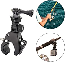 Easy-Mounted Gun/Rod/Bow Camera Clamp Mount for GoPro Hero 7 6 5 4 3+ Session Action Camera, Hunting Camera Accessory Fishing Pole Clamp