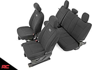 Rough Country 91018 Neoprene Seat Covers Black Front/Rear (fits) 2015-2019 F150 XL/XLT 1st/2nd Row Water Resistant