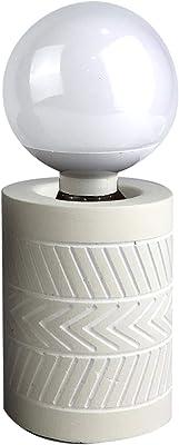 HOMEA 6LCE139NT Lampe, Ciment, 40 W, Beige, DIAMETRE8H11CM