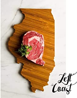 Personalized Illinois State Shaped Cutting Board by Left Coast Original