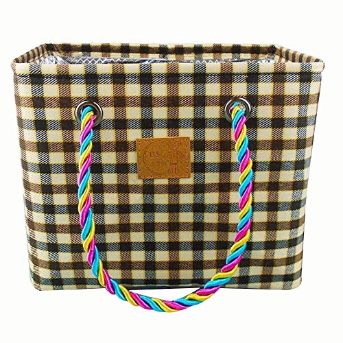 Adaly Bolsa de almacenamiento sencillez, lavado a mano, multifunción, baño, impermeable, bolsa de baño para la señora (color café)