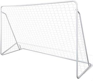vidaXL Soccer Goal Post Net Set Steel 240x90x150cm Children Training Equipment