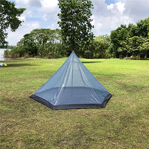 HLSX Mosquito net Tent,3~4 Person Mesh Tent Shelter, Hexagon Breeze Tent,inner Tent for Stove tent