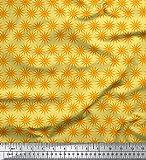 Soimoi Gelb Baumwolle Batist Stoff Sonne kunstlerisch Stoff