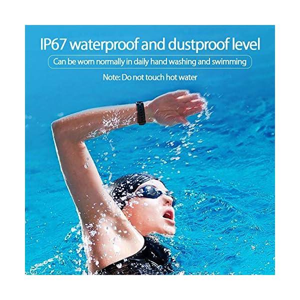 PYBBO Monitor de fitness con temperatura corporal y presión arterial, oxígeno y frecuencia cardíaca, monitor de sueño… 5