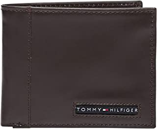 Tommy Hilfiger 31TL22X063-200 Cambridge Billfold Wallet for Men - Leather Brown
