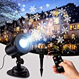 LYRABAY Christmas Outdoor Projector Laser Lights, Meteor Shower with Ocean Wave, LED Light Proejctor for Party, Halloween Landscape Decoration (3-Snow Flake Light)