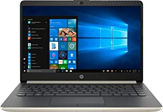 Hp 14-cf0006dx 14 Inches LED Laptop - Intel i3-7100u 2.4 GHz, 4 GB RAM, 128 GB SSD, Intel HD Graphics 620, Windows 10, Gold