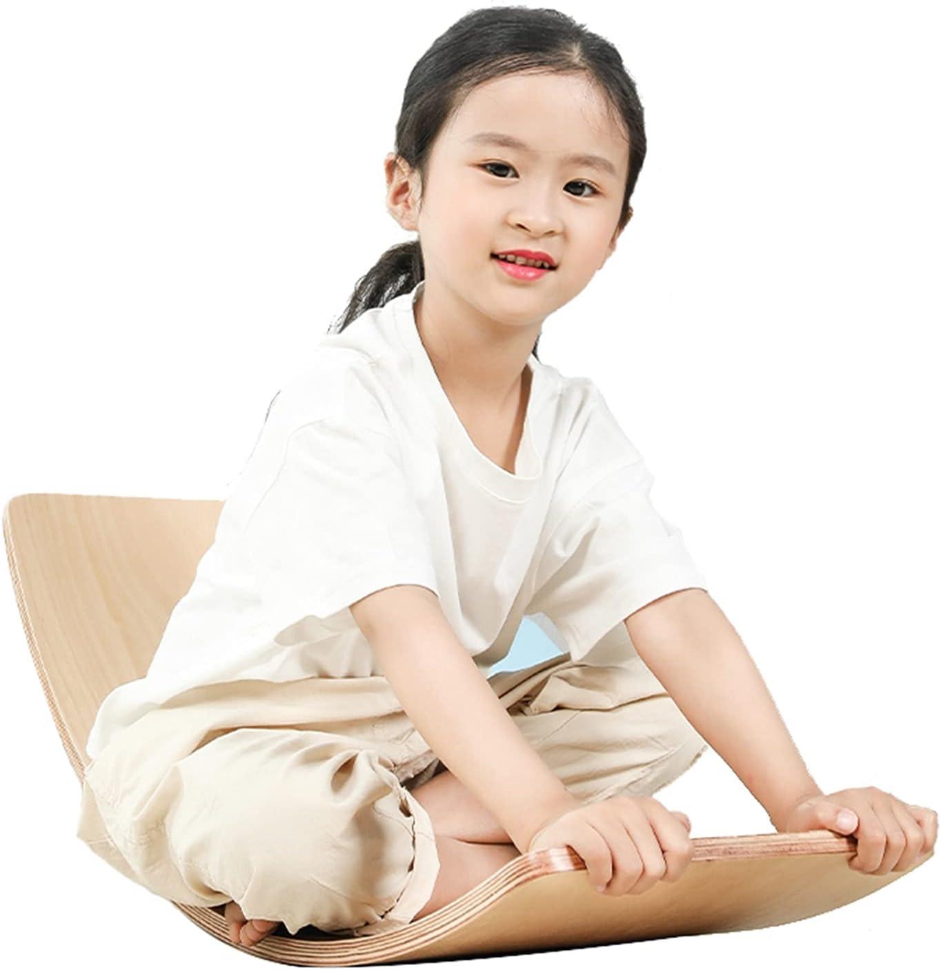 ZXQZ Wooden Wobble Balance Max 65% OFF Board W Curvy Popular popular Children's Yoga