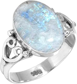 Jeweloporium Solid 925 Sterling Silver Gemstone Handmade Ring for Women (99019_R)