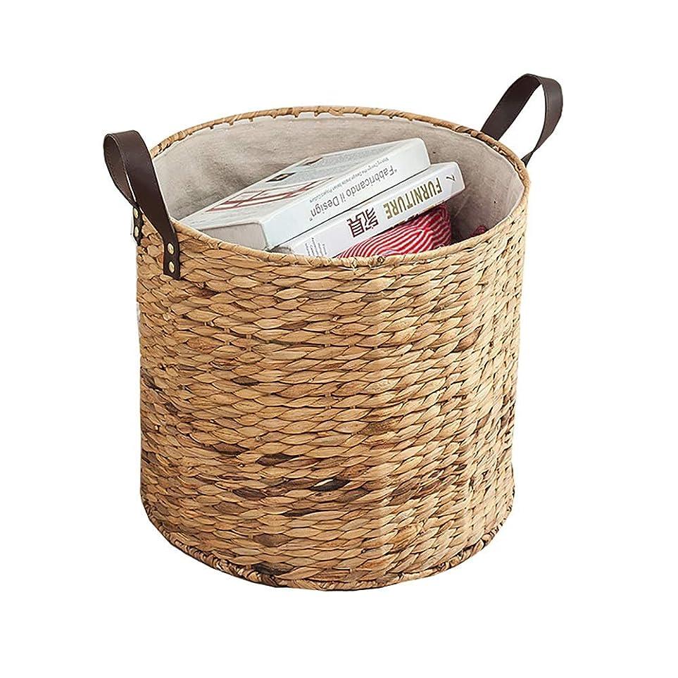 今晩ずらす遠い家庭用テーブル古紙バスケットゴミ収納バスケット、収納ボックス/ファッション/籐/クリエイティブ/キュート/シンプル、リビングルームに適し、バルコニー、キッチン (Size : 38X38X34cm)