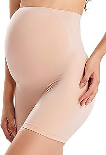 Gratlin Women's Pregnancy Shapewear High Waist Shorts Mid-Thigh Underwear