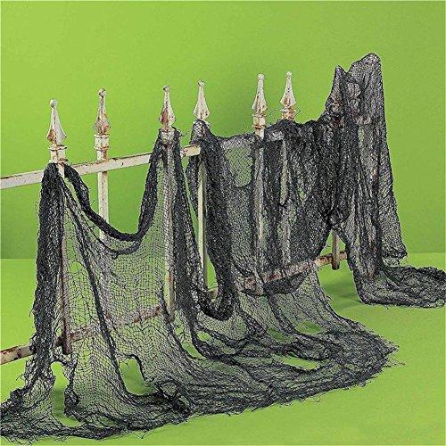 HENGSONG Halloween Gruselig Hängender Dekoration Halloween Party Deko Stoff Dekostoff Tuch Decke Horror Halloweenstoff (Schwarz)