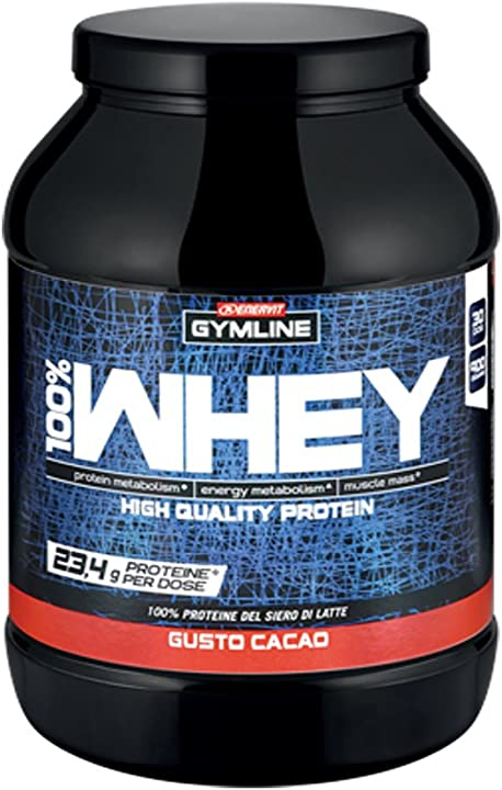Proteine palestra - gymline muscle 100% whey concentrate cacao, standard, 900g EN7034