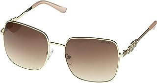 Guess Ladies Gold Tone Square Sunglasses GF6115 32F 57