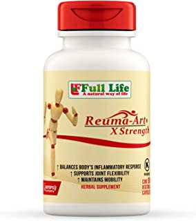Full Life Reuma-Art X Strength - 90 Veggie Capsules - Extra Strength & Fast Acting Anti-Inflammatory - Joint Pain Relief Supplement
