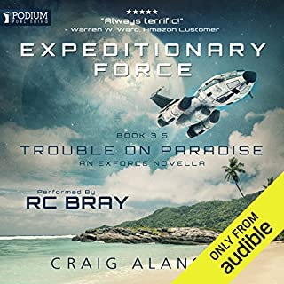 Trouble on Paradise     Expeditionary Force, Book 3.5              Auteur(s):                                                                                                                                 Craig Alanson                               Narrateur(s):                                                                                                                                 R. C. Bray                      Durée: 5 h et 48 min     163 évaluations     Au global 4,7
