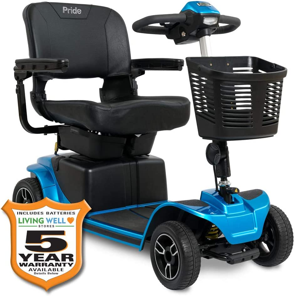 Pride Revo Max 89% OFF 2.0 4-Wheel Mobility Scooter Save money Avail Ext Blue Warr w