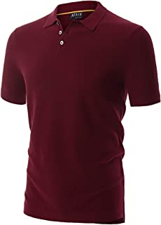 AFAIK As Far As I Know - Men's Short Sleeve Polo Shirts 100% Combed USA Cotton Tuck Stitch Knit 3 Real Shell Buttons