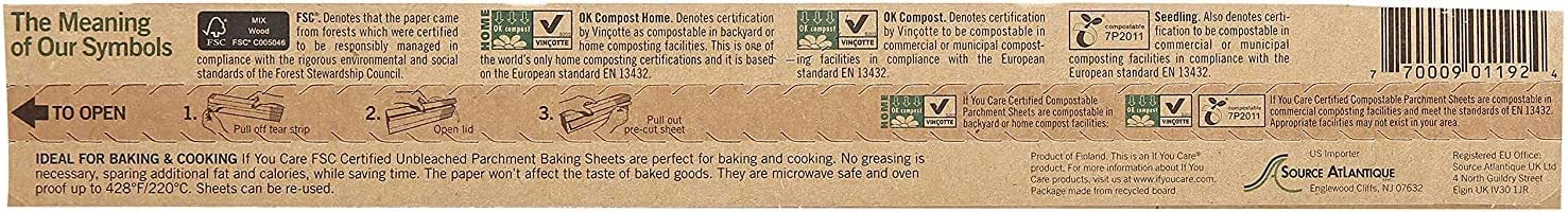 Two Pack 24 Count If You Care Parchment Baking Sheets