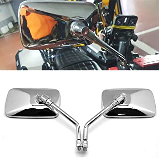Alician 2pcs Universal Rectangle Aluminum Square Motorcycle Rearview Mirrors Electric Bike Auto Parts