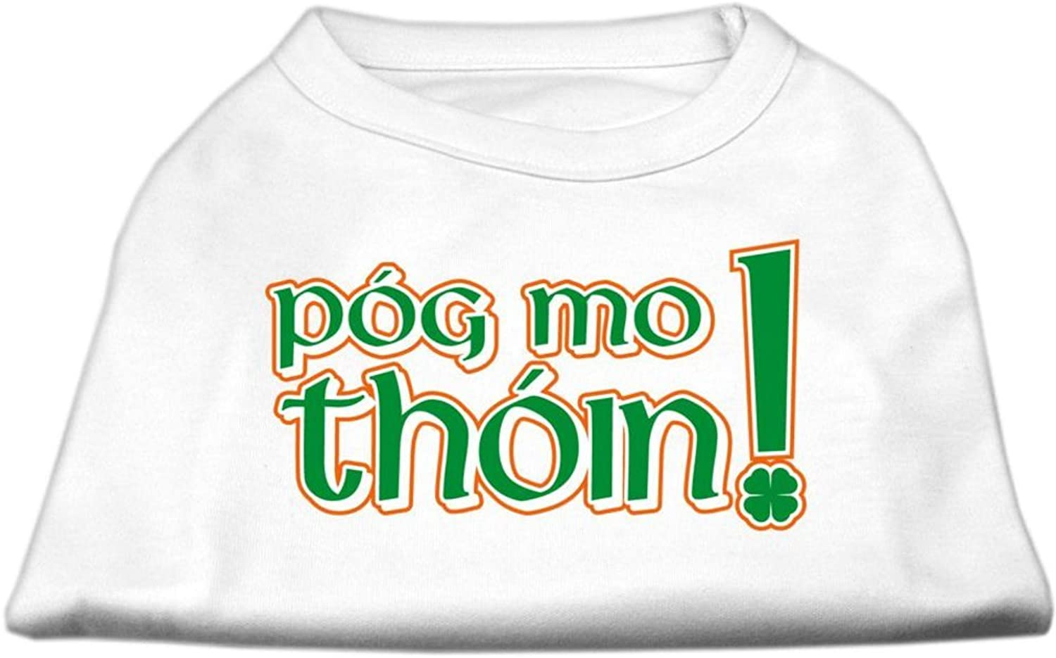 Mirage Pet Products 10Inch Pog Mo Thoin Screen Print Shirt for Pets, Small, White