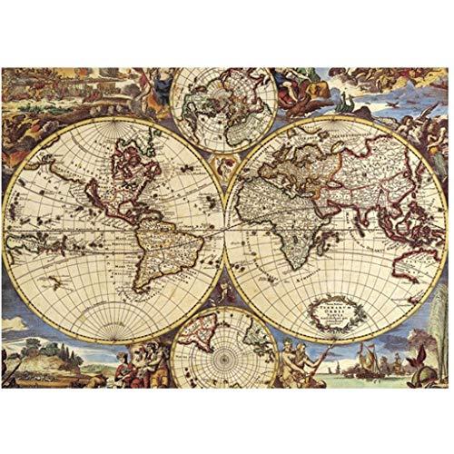 Weltkarte Puzzles 1000 Stück großes Puzzlespiel Interessantes Intellektuelles Spiel Klassische Puzzles