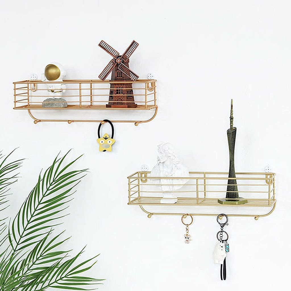 Wall Mounted trust Floating Shelves Shelf Storag Set Metal Under blast sales 2 of