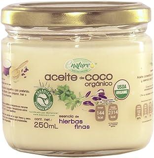 Enature Aceite de Coco Orgánico con Esencia de Hierbas