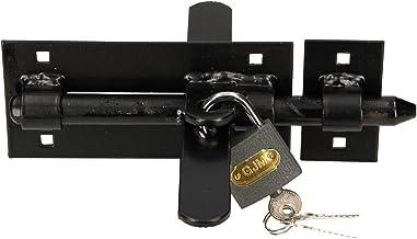 KOTARBAU boutgrendel 150 mm met hangslot aan beide zijden vergrendeling stalen deurgrendel schoenzegel deurgrendel deurgre...