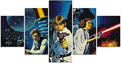 Modern HD 5 pieces Movie canvas Wall art painting abstract Star Wars wall pictures for living room posters and prints artwork-Without frame