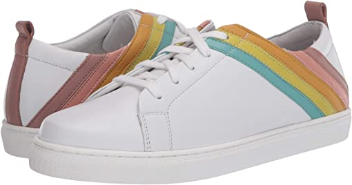 White/Rainbow Leather