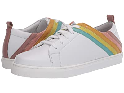 Seychelles Stand Out (White/Rainbow Leather) Women
