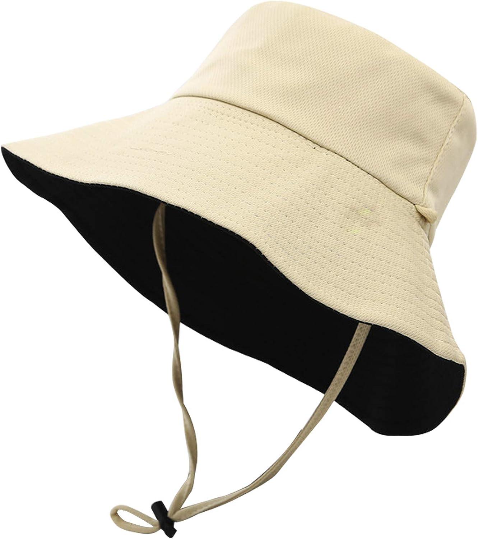 Umeepar Embroidered 100/% Cotton Bucket Hat Packable Beach Sun Hat for Women Men