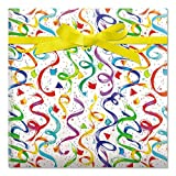 Happy Birthday Confetti Jumbo Rolled Gift Wrap - 23 Inches x 35 Feet (67 Square Feet Total), Peek-Proof, for Birthdays, Graduations, Baby Showers and More