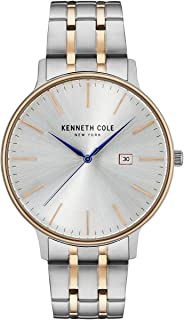 Kenneth Cole New York Men's Quartz Stainless Steel Case Leather Strap /Stainless Steel Bracelet Casual Watch,(Model:KC1505...