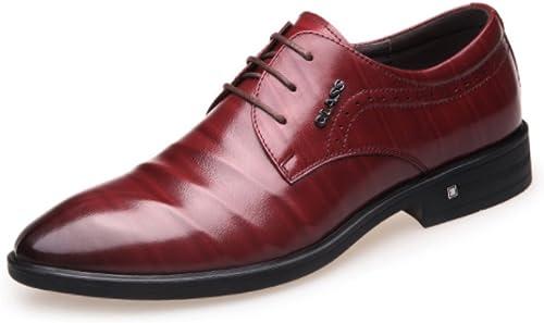 LINYI Business Kleid Schuhe Herren Spitze Hochzeit Schuhe British Spitz Herrenschuhe