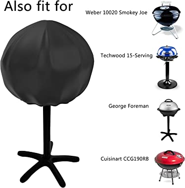 Nomiou Grill Cover for George Foreman GGR50B, GFO3320, GFO240 Indoor and Outdoor Electric Grill, Easy Take Off Handle Design