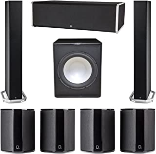 Definitive Technology 7.1 System with 2 BP9060 Tower Speakers, 1 CS9080 Center Channel Speaker, 4 SR9040 Surround Speaker, 1 Premier Acoustic PA-150 Subwoofer
