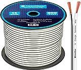 InstallGear 14 Gauge AWG 500ft Speaker Wire Cable - White