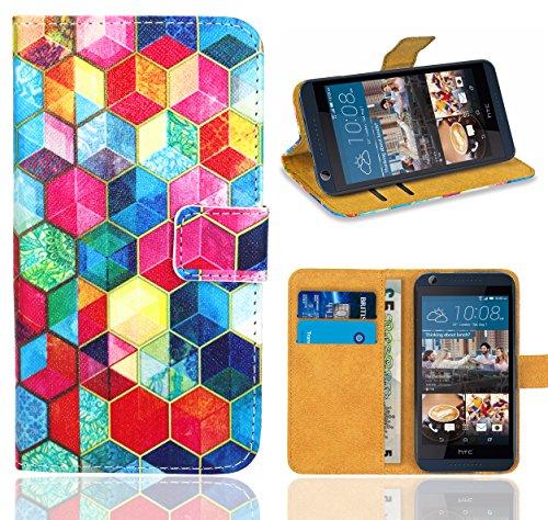 HTC Desire 626 626G Handy Tasche, FoneExpert® Wallet Hülle Flip Cover Hüllen Etui Ledertasche Lederhülle Premium Schutzhülle für HTC Desire 626 626G (Pattern 2)