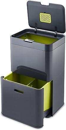 Joseph Joseph 智能客厅厨房垃圾桶智能分类垃圾桶纸篓杂物桶 Totem 48 灰色