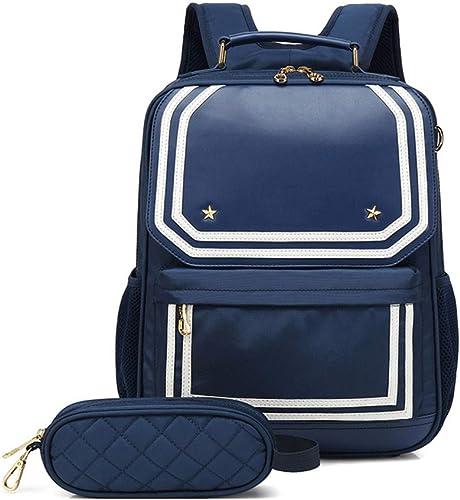 Kinder Schultasche Schulrucksack Gründschüler Buch Tasche Reisetasche (Farbe   Blau, Größe   32  13  42CM)