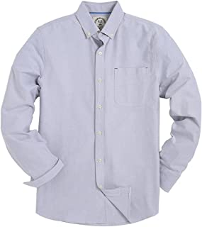 Men's Regular Fit Solid Color Oxford Casual Button Down Dress Shirt